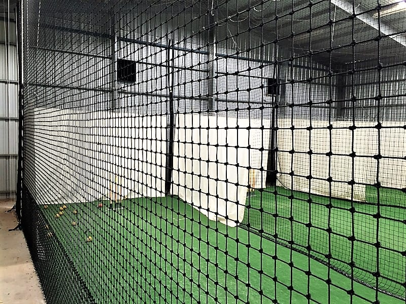 Indoor cricket soft rope netting Quin Sports & Nets