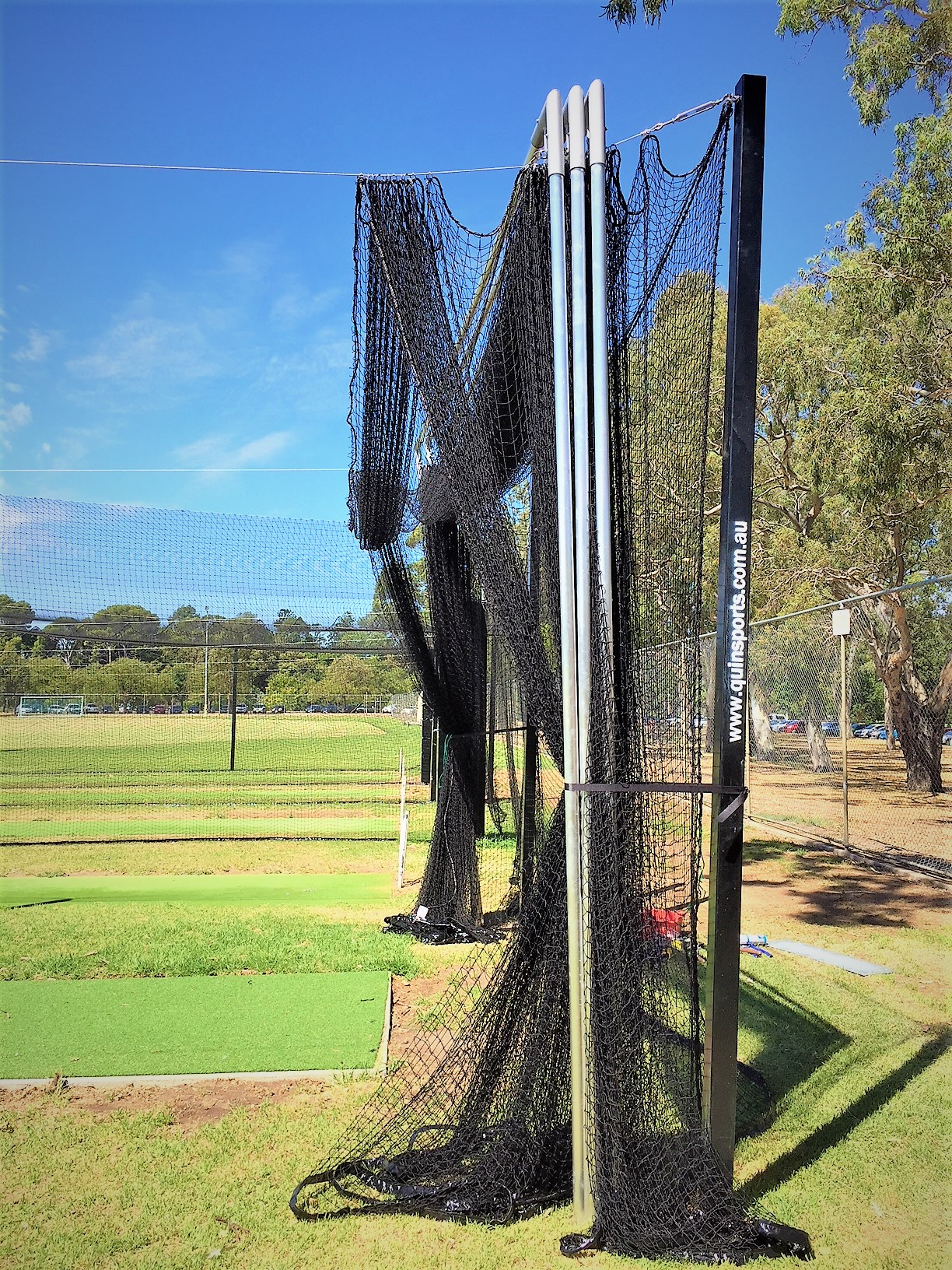 Collapsable cricket netting Quin Sports & Nets