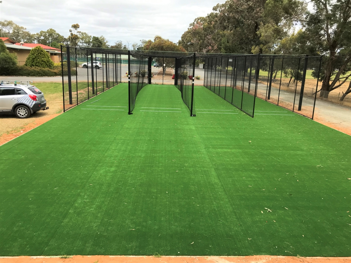 Outdoor covered cricket netting Quin Sports & Nets