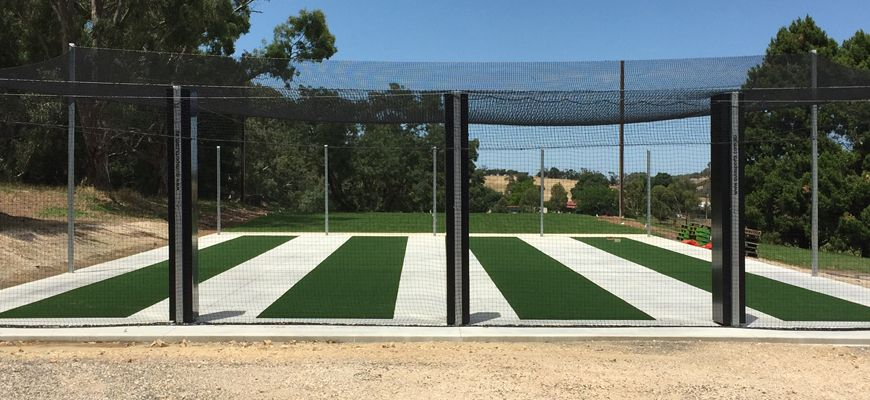Cricket nets we recently constructed and installed in Lobethal, South Australia.