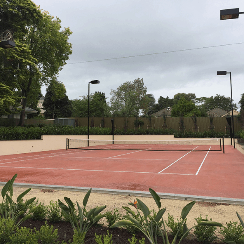 Tennis court netting by Quin Sports and Nets