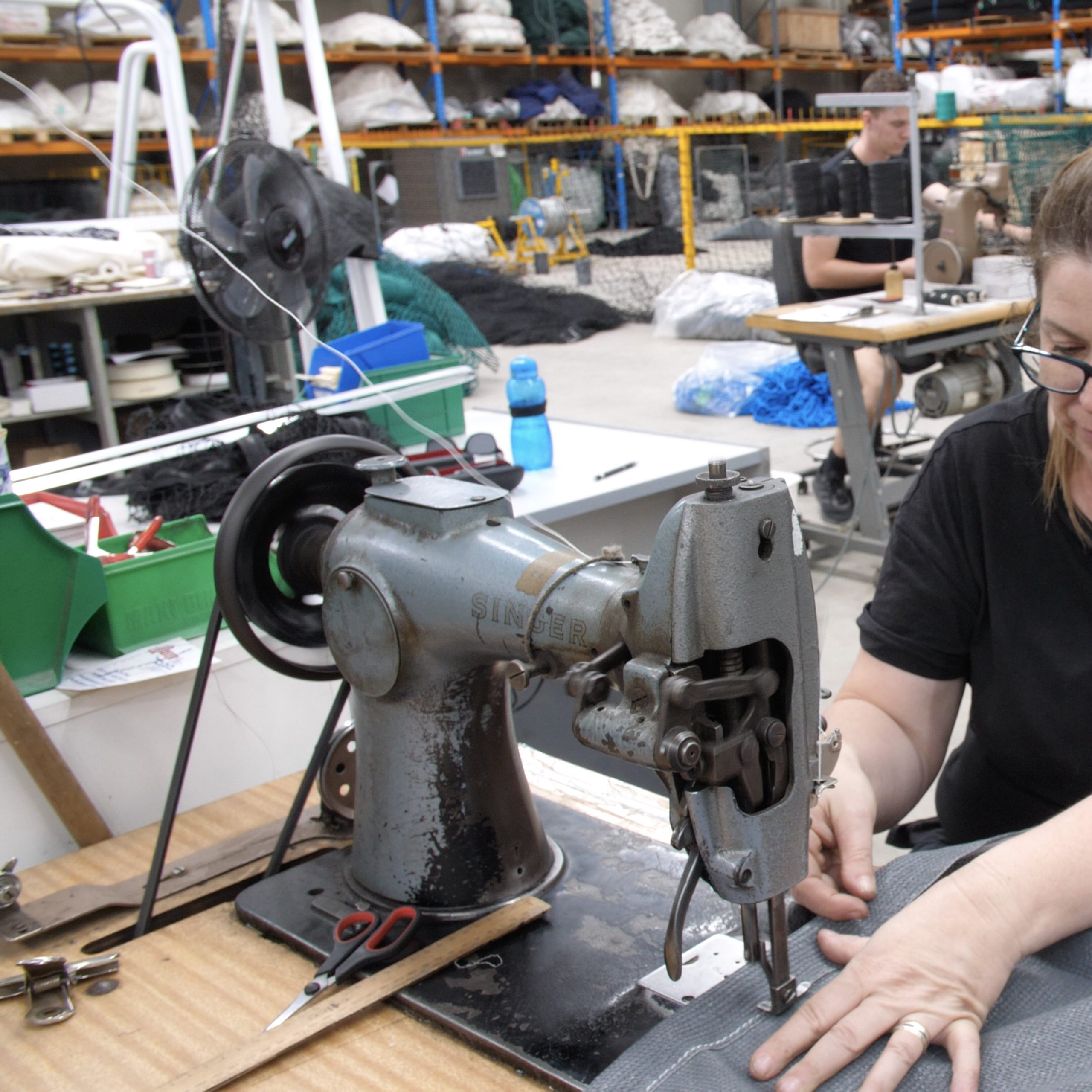 Custom industrial sewing by Quin Sports and Nets