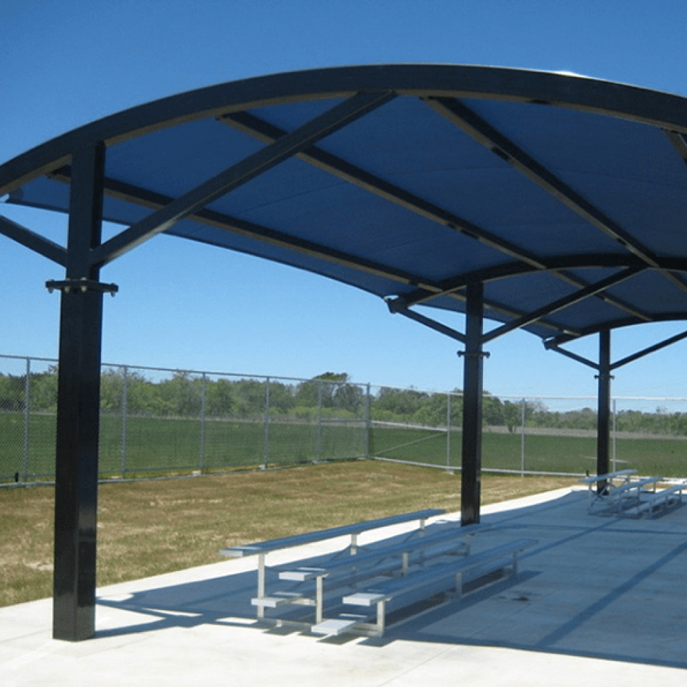 Sports ground shade by Quin Sports and Nets